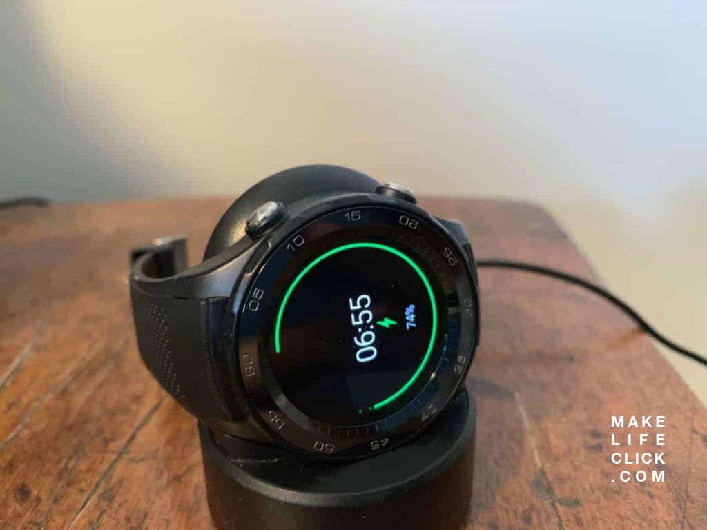 Third party Huawei Watch 2 charging unit which cost me about $6 USD