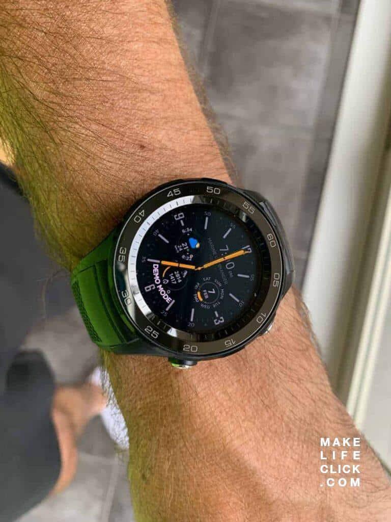 Huawei Watch 2 Sport LTE on the wrist