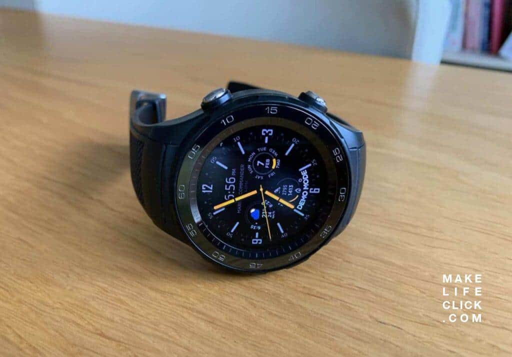 Huawei Watch 2 Sport LTE with Marina Commander Watch Face