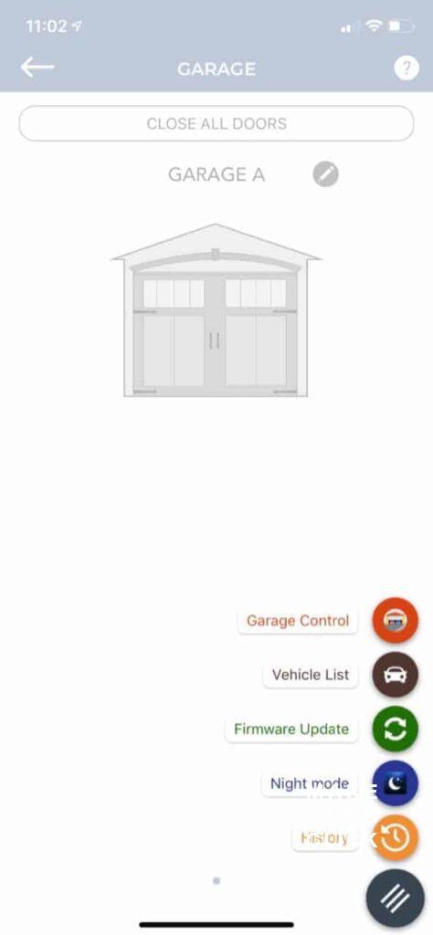 Tailwind iQ3 App Menu Options