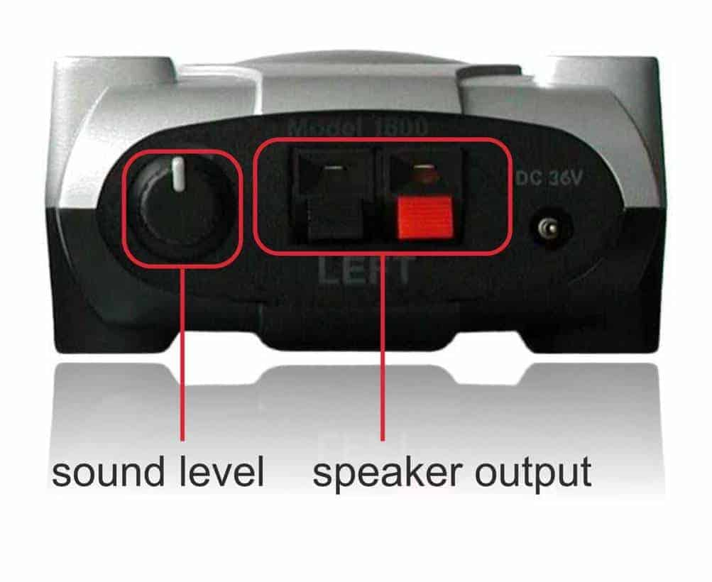 Amphony surround speakers wireless kit rear view