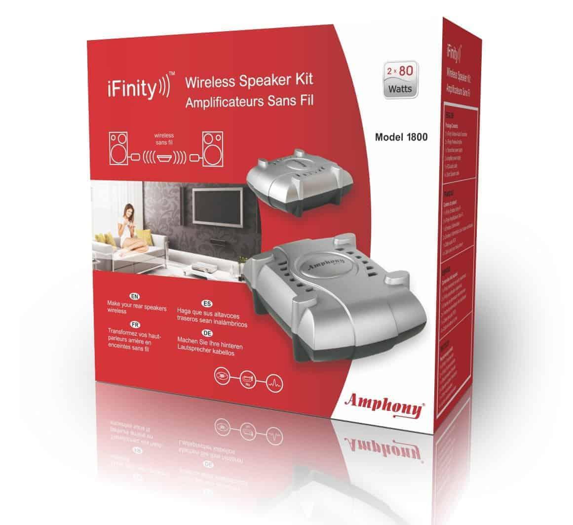 Amphony Wireless Surround Sound Speakers - Home Theatre
