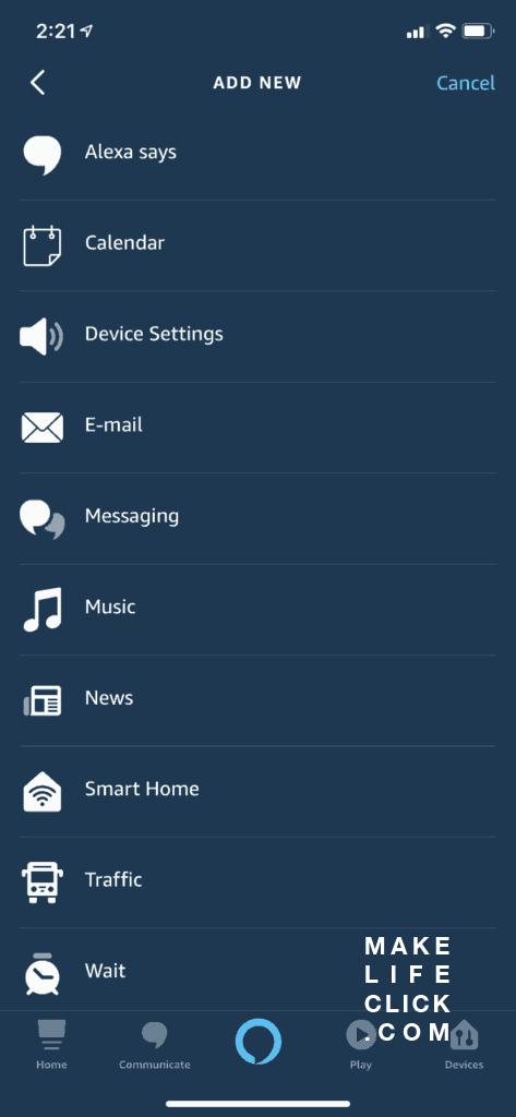 Amazon Alexa Routines screenshot - then do this