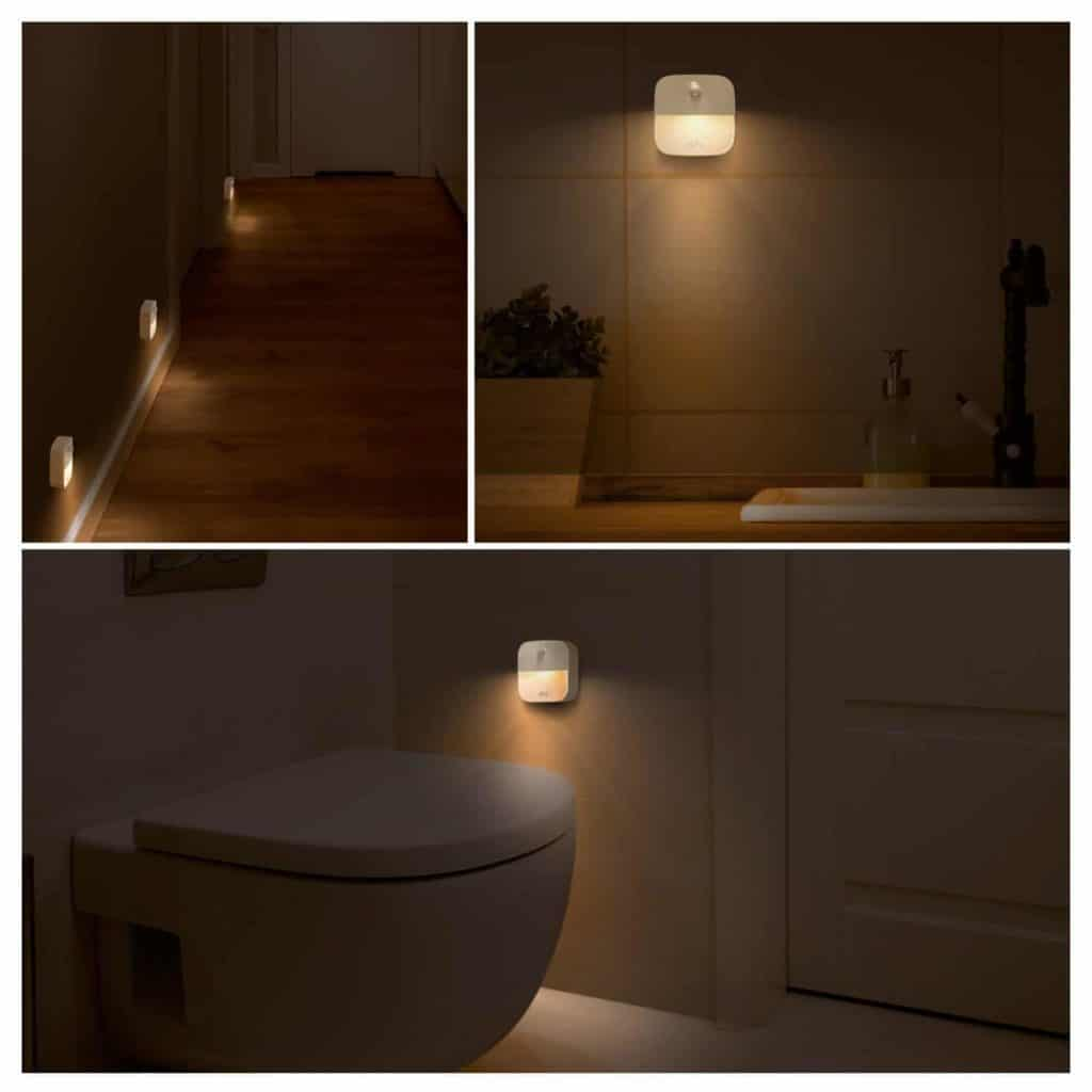 Image showing eufy Lumi on walls, halls and in bathroom