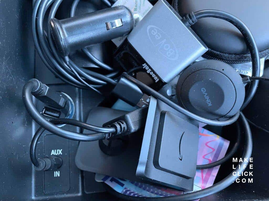 Photos of 2 Bluetooth Car Adaptors in Car