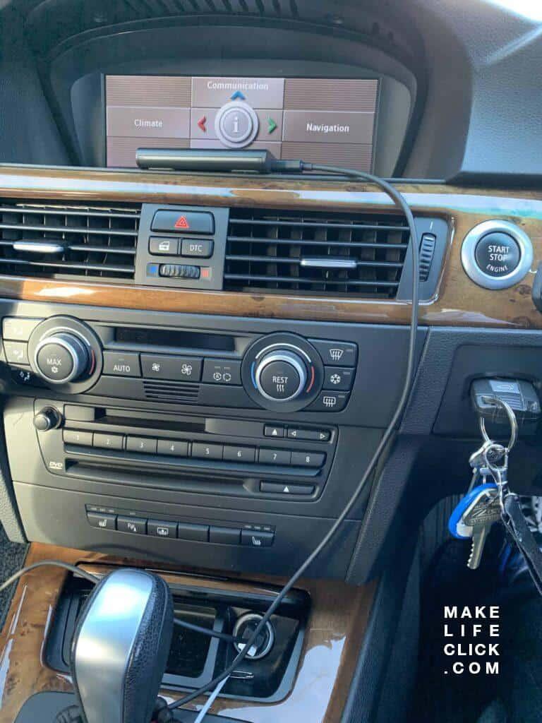 echo auto in car bmw dash
