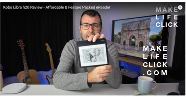 """eReader with portrait and landscape reading positions on a 7"""" screen"""