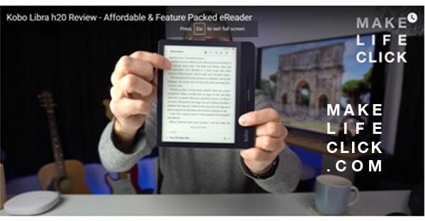 Showing how to run your finger up and down the screen to adjust the brightness on the kobo eReader.