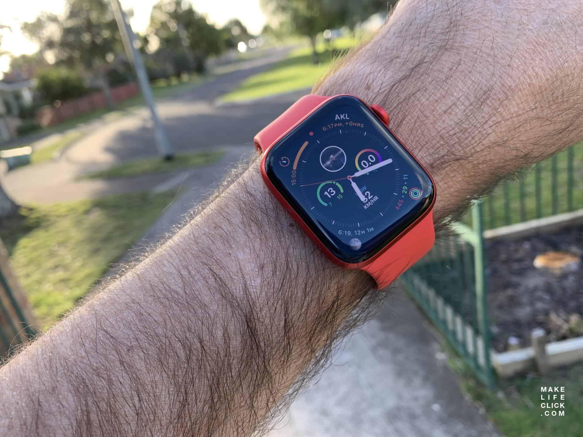 Apple Watch 6 on wrist