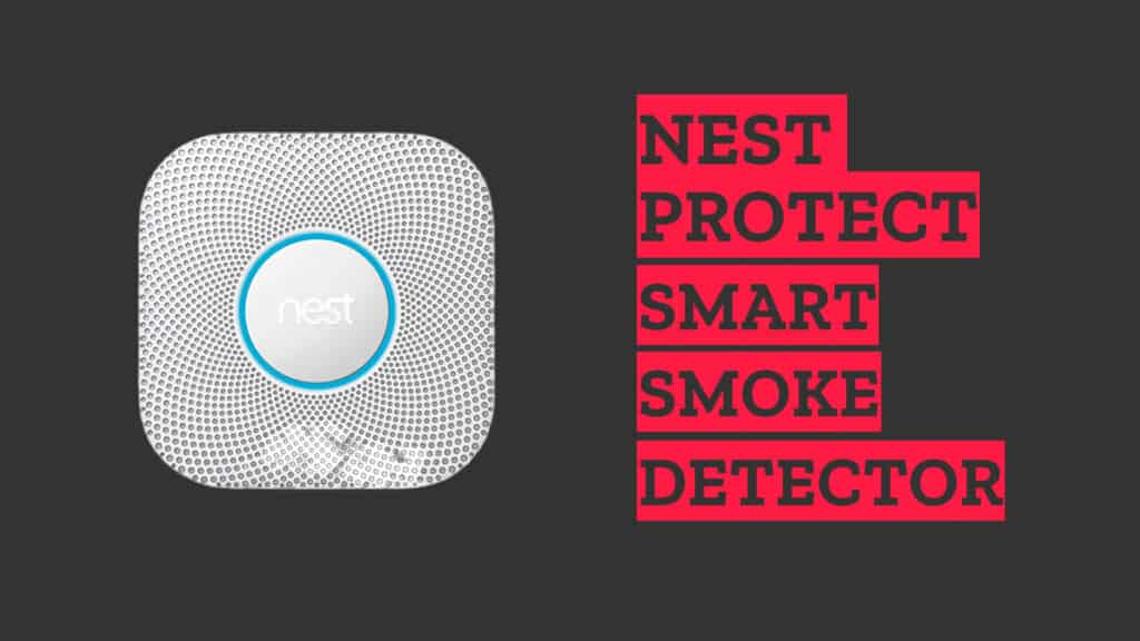 Nest Protect Smart Smoke Detector Device on grey background